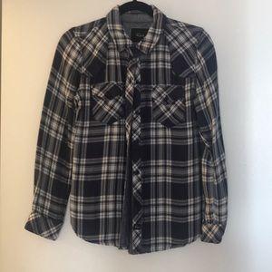 Rails long sleeve plaid shirt size XS